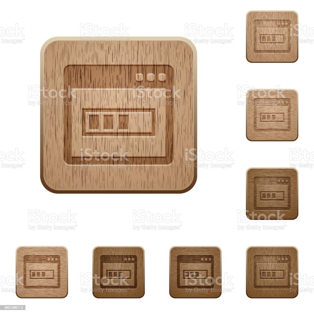 Application installing wooden buttons ilustración de application installing wooden buttons y más banco de imágenes de acontecimiento libre de derechos