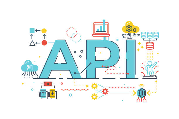 API application program interface vector art illustration