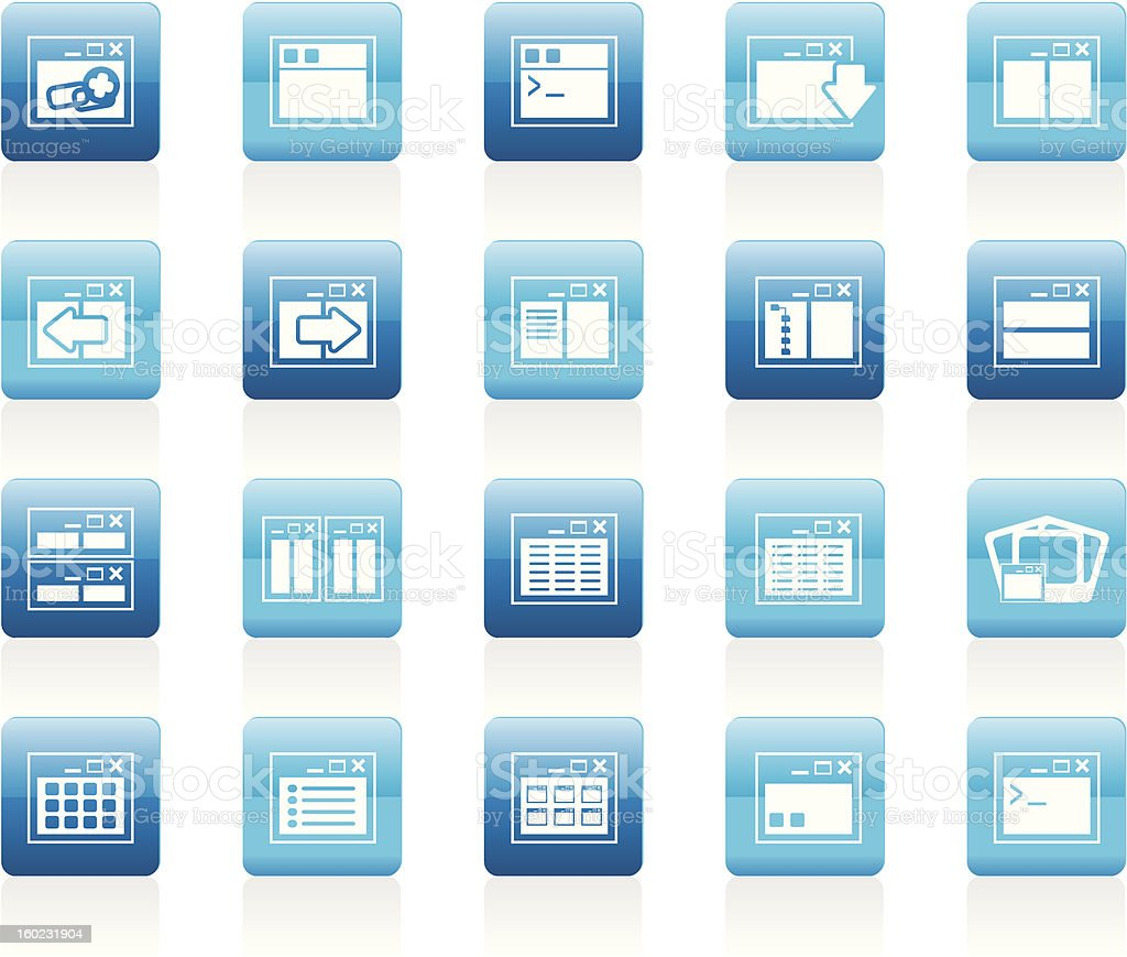 Application, Programming, Server and computer icons royalty-free stock vector art