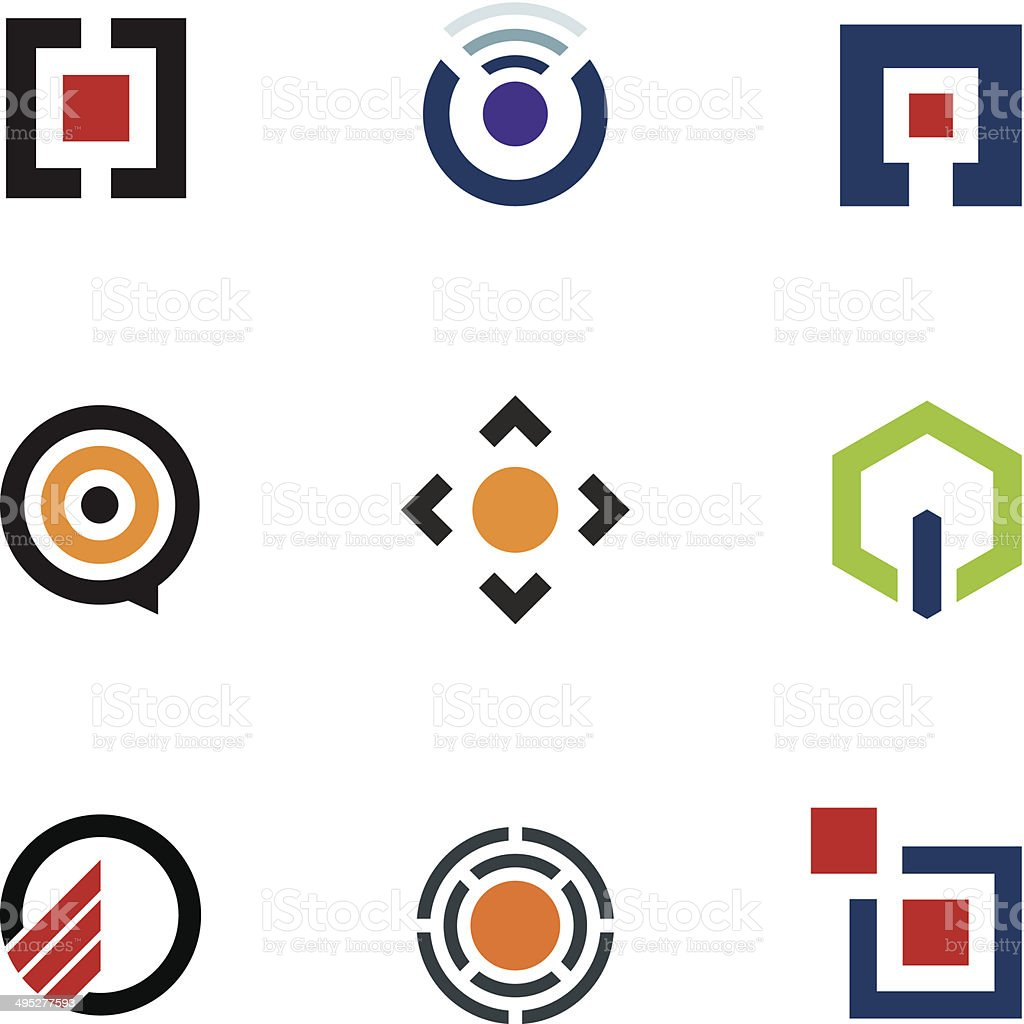 Application software menu sharing ideas for mobile future logo icon vector art illustration