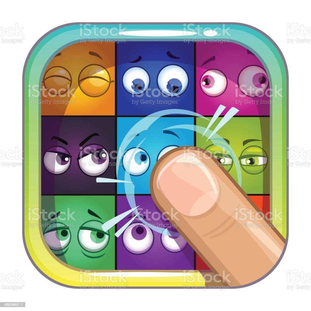 Modèle d'icône application store - Illustration vectorielle