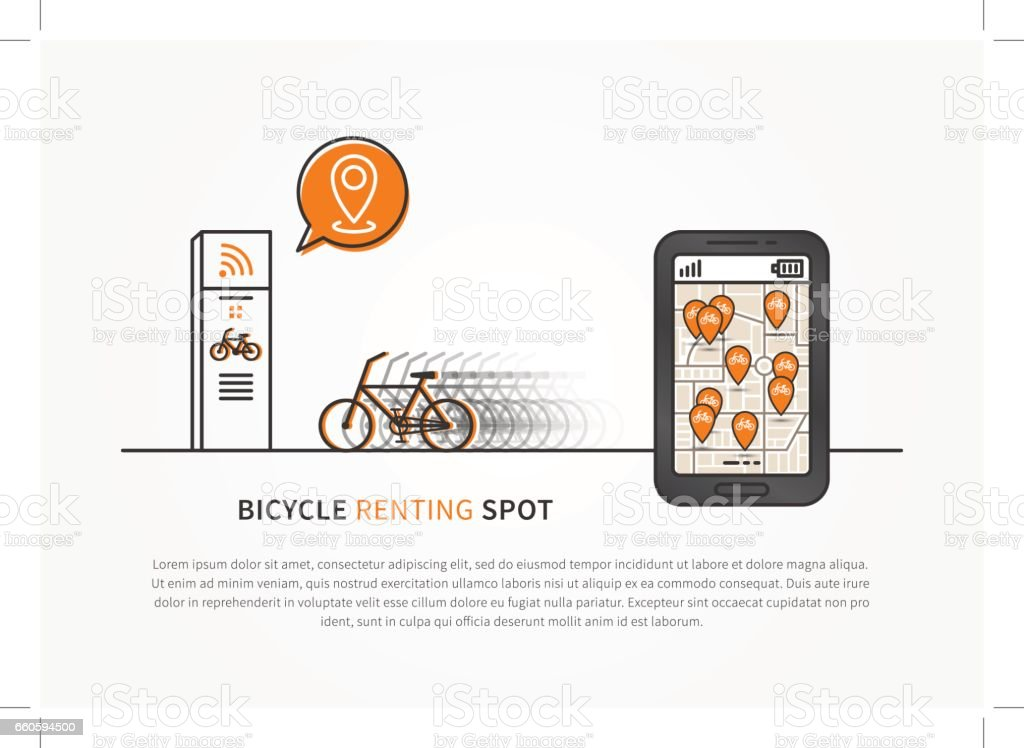 Application to look for bikes vector illustration royalty-free application to look for bikes vector illustration stock vector art & more images of bicycle