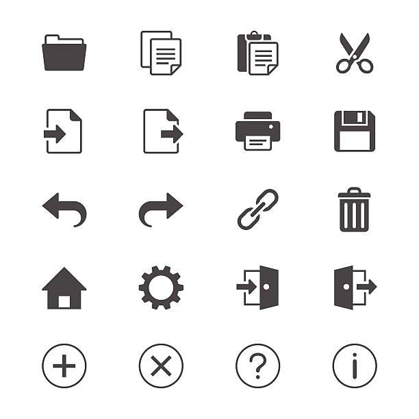 Anmeldung flache Symbole Symbolleiste – Vektorgrafik