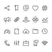 Application UI and UX related vector icons.