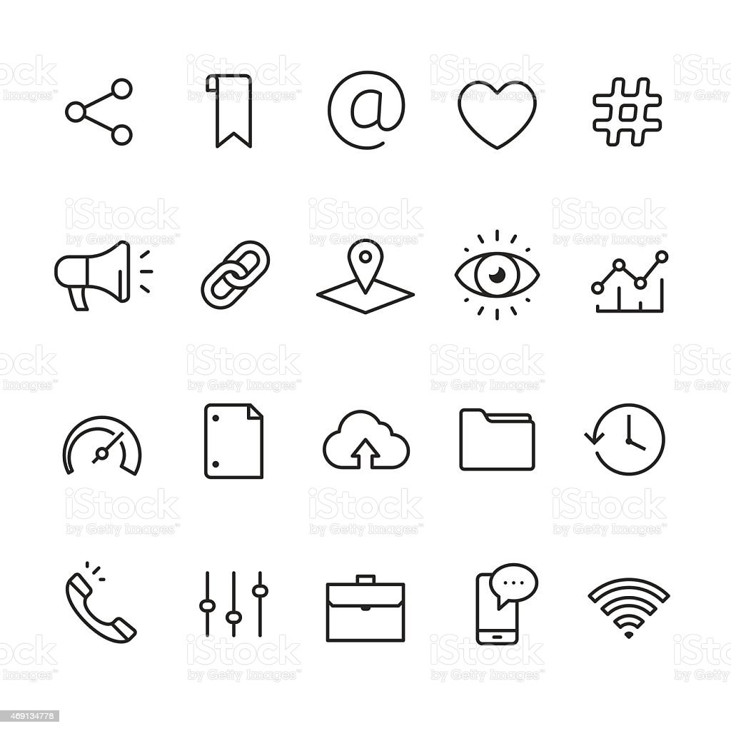 Application UI and UX related linear icons vector art illustration