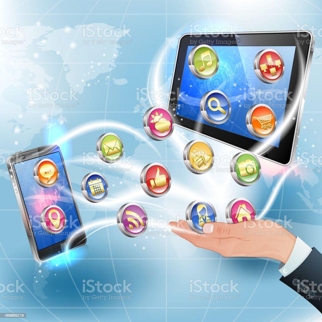 Applications for Mobile Platforms vector art illustration