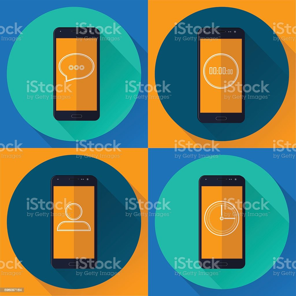 applications on your mobile phone royalty-free applications on your mobile phone stock vector art & more images of abstract