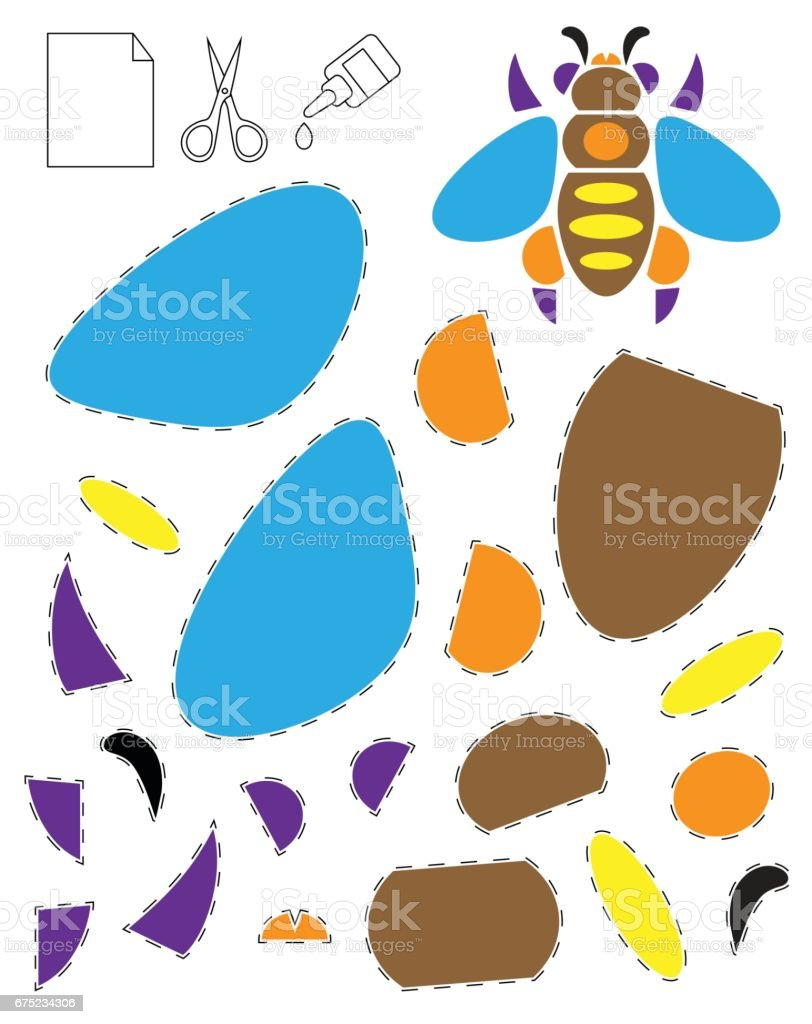 Applique for children, bee royalty-free applique for children bee stock vector art & more images of appliqué