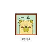 Applique line icon