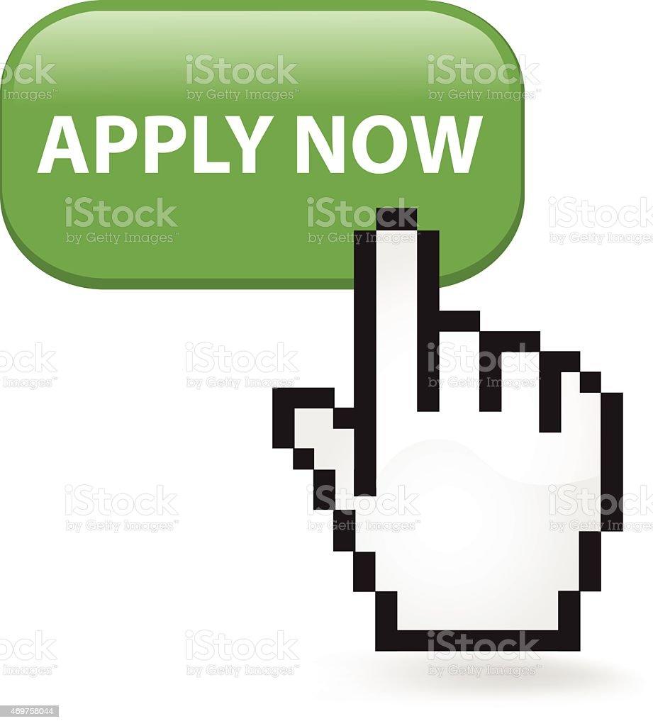 Apply Now Button Click vector art illustration