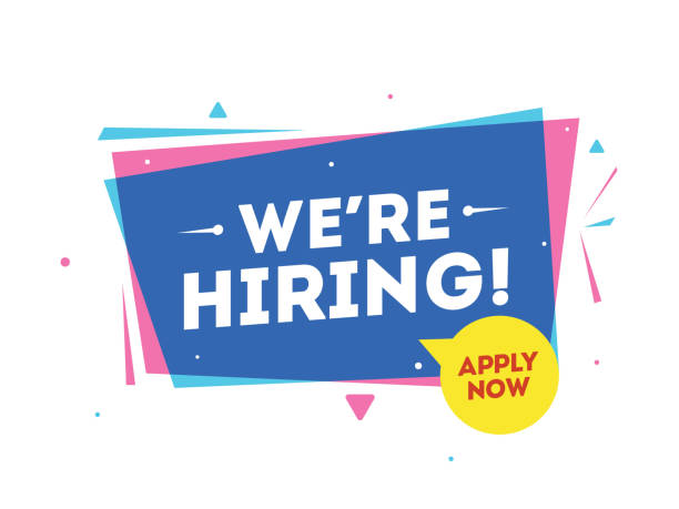 Apply Now for Job Vacancy, We're Hiring banner or advertising poster design. Apply Now for Job Vacancy, We're Hiring banner or advertising poster design. vacancy stock illustrations