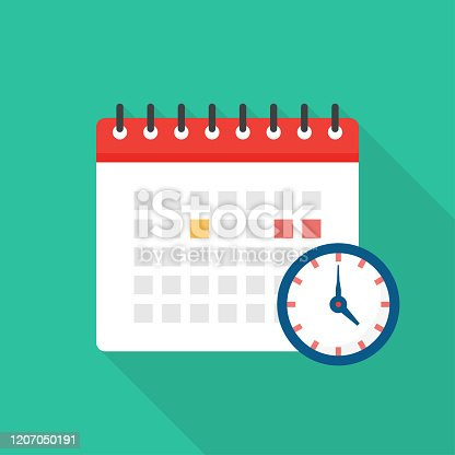 istock Appointment Calendar Flat Icon Design 1207050191