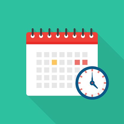 Appointment Calendar Flat Icon Design