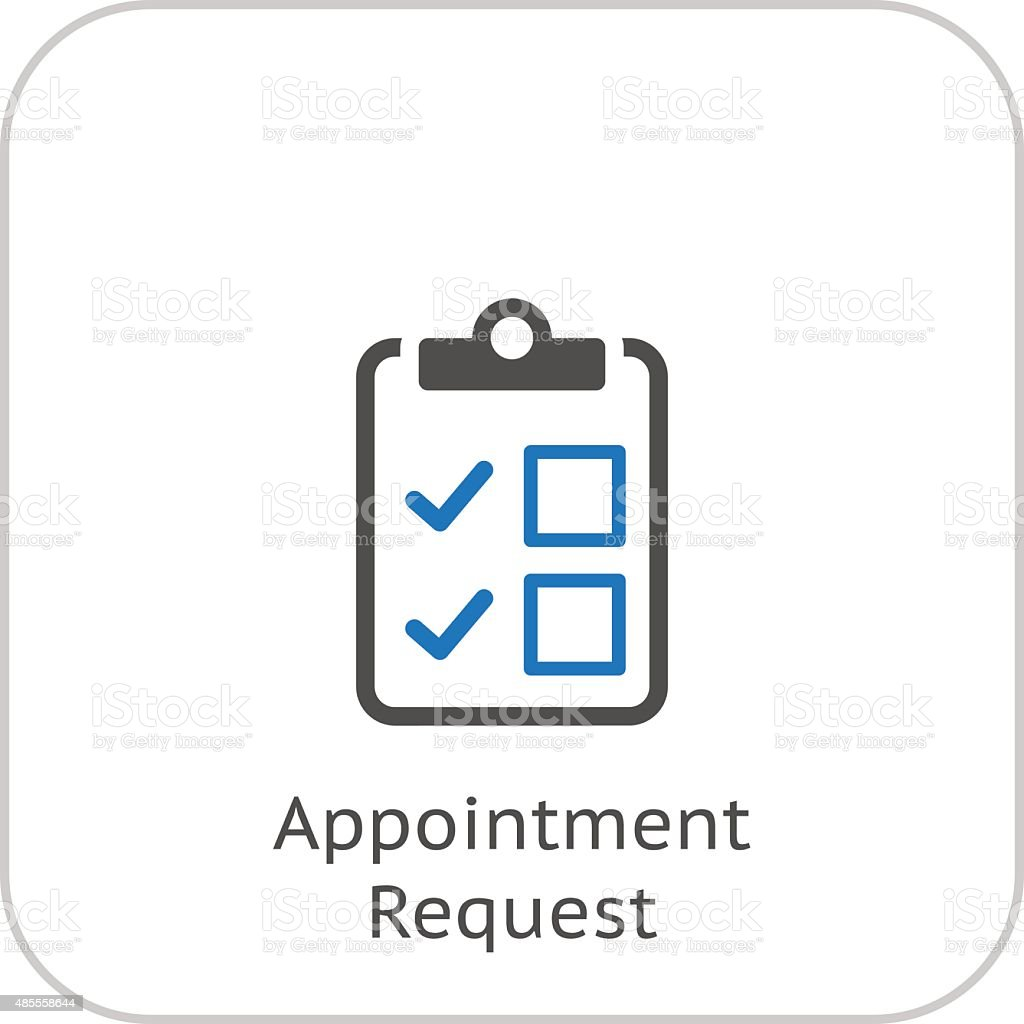 Appointment Request and Medical Services Icon. Flat Design. vector art illustration