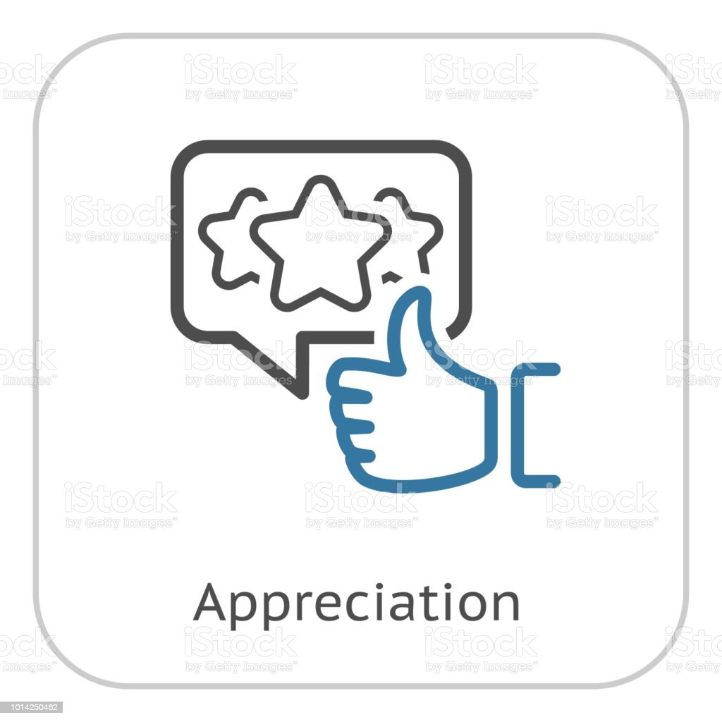 Appreciation Line Icon. Client Satisfaction symbol. Customer...