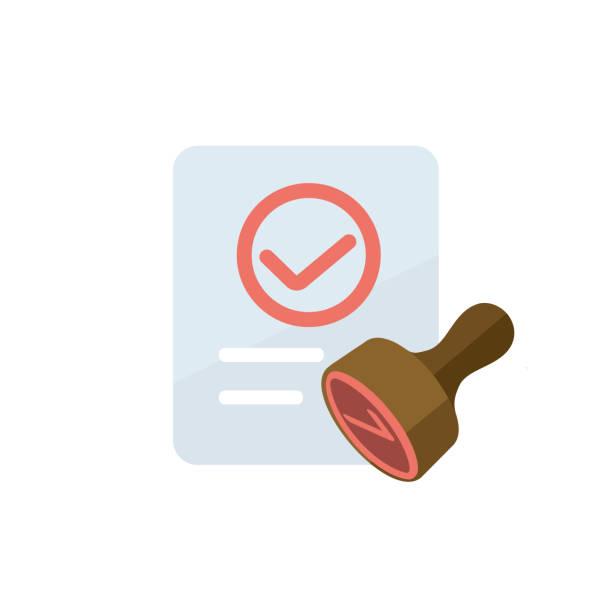 zustimmung/zustimmung/qualifiziertes icon - autorität stock-grafiken, -clipart, -cartoons und -symbole