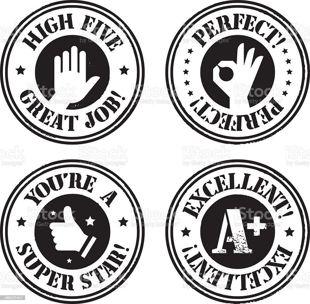 Approval Stamps royalty-free stock vector art