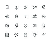 Approve Icon Set - Thick Line Series