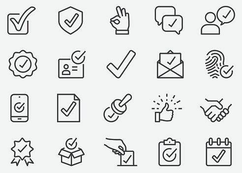 Approve Line Icons