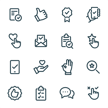 Approve Mark - Pixel Perfect Unicolor line icons