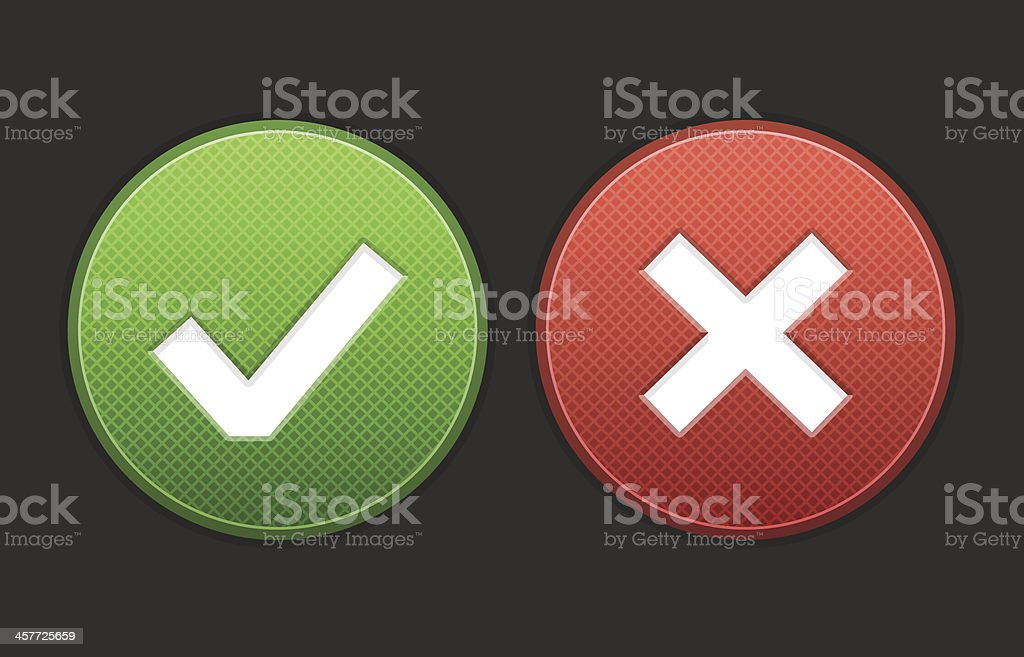 Approved and Denied Buttons royalty-free stock vector art