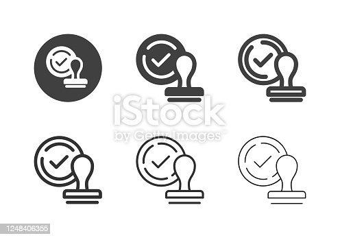 Approved Icons Multi Series Vector EPS File.