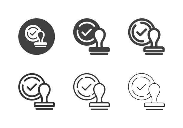 Approved Icons - Multi Series vector art illustration