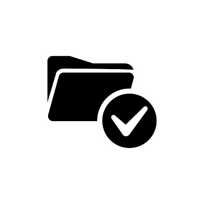 Approved personal document flat icon. Checked identity vector illustration isolated on white. Paper outline style design, designed for web and app. Eps 10. stock illustration
