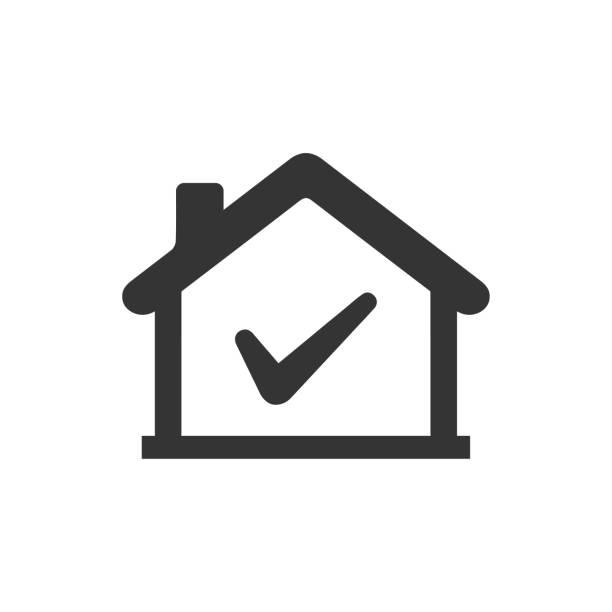 승인, 부동산, 집, 부동산, 부동산 승인 벡터 아트 일러스트