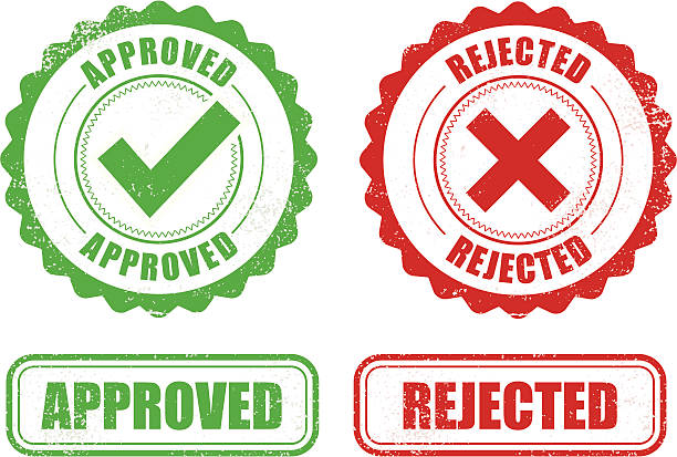 Approved Rejected stamps vector art illustration