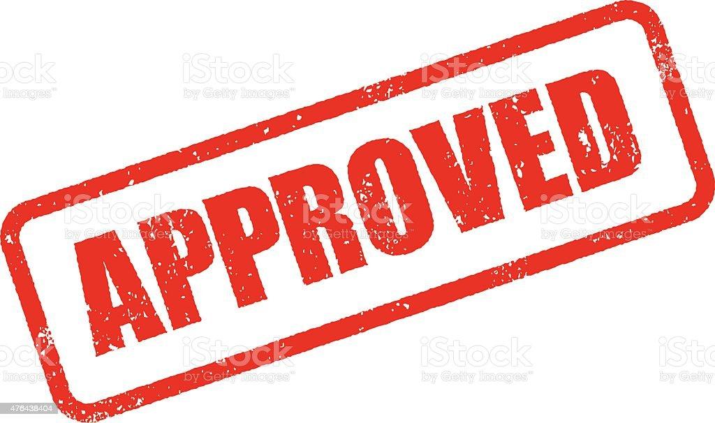 Approvato Timbro inchiostro icona (Stampa sfondo trasparente) - illustrazione arte vettoriale