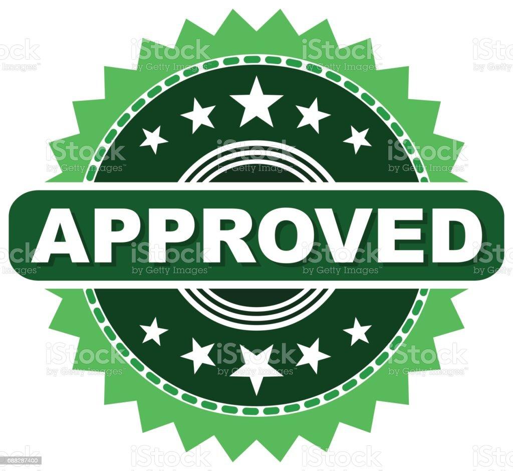 Selo aprovado - ilustração de arte em vetor