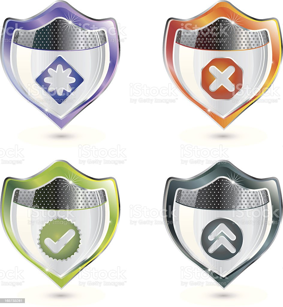 Approved Security Strength vector art illustration