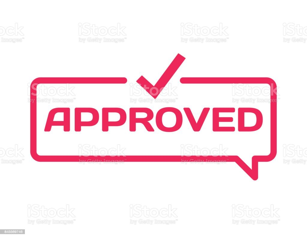Approved stamp in flat minimalistic style on white background approved stamp in flat minimalistic style on white background confirm dialog bubble icon with mark buycottarizona
