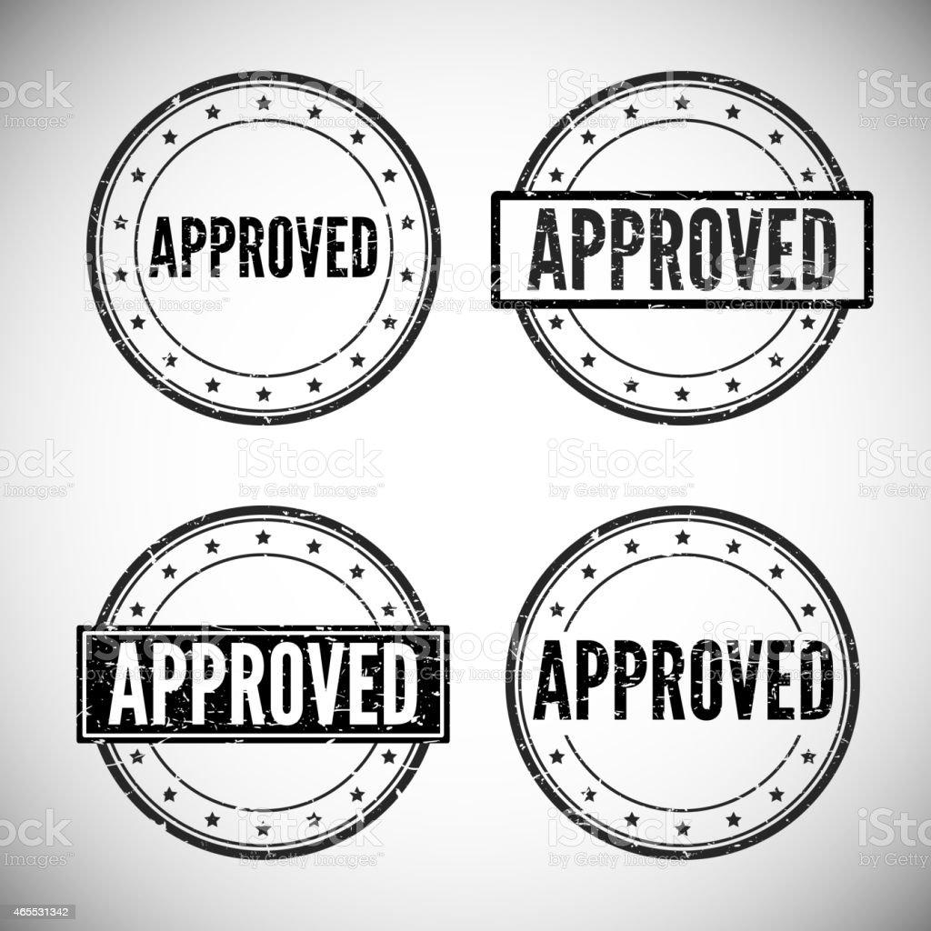 Approved stamp, vector illustration. vector art illustration