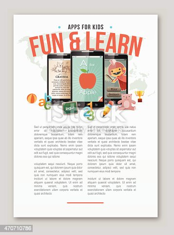istock Apps for kids learning copy space 470710786