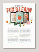Apps for kids learning copy space