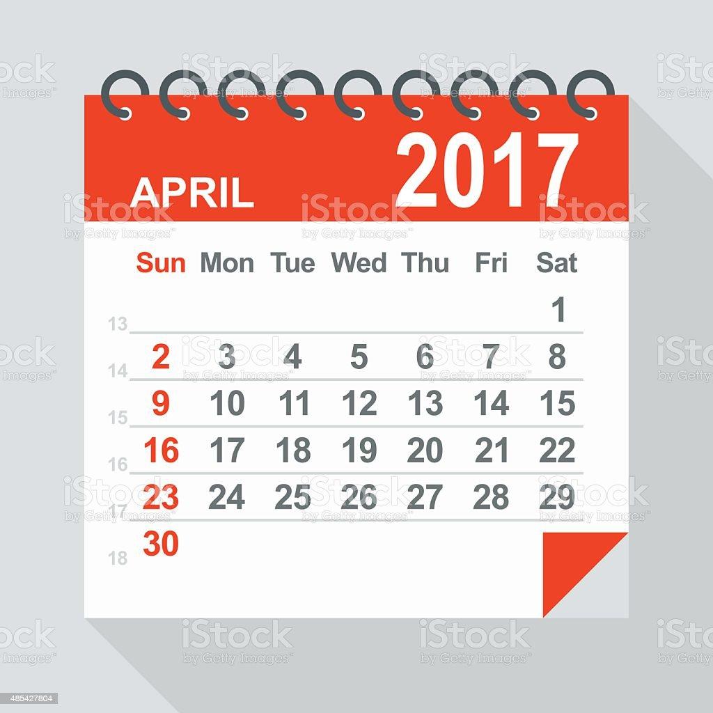April Calendar Illustration : April calendar illustration stock vector art more