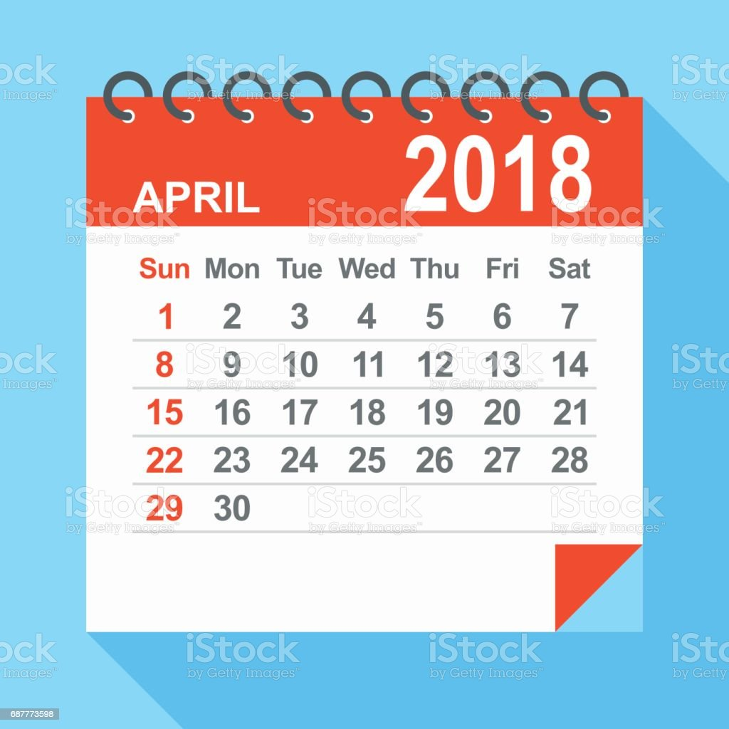 Calendar April Vector : April calendar stock vector art more images of
