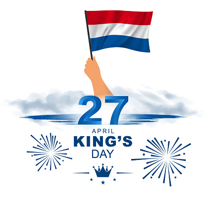 April 27 King's Day. King's Birthday in the Netherlands. Card, banner, poster, background design. Vector illustration.