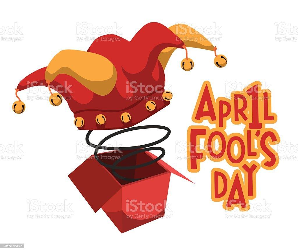 April fools day design, vector illustration. vector art illustration