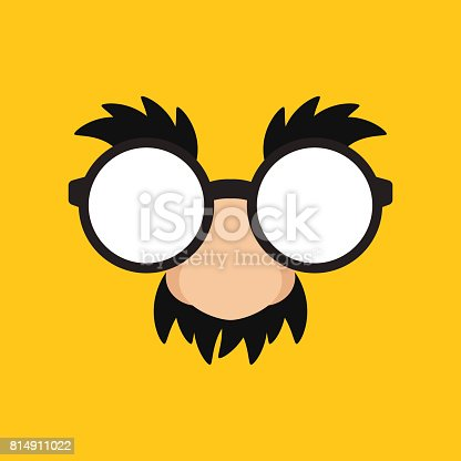Funny Mask with eyebrows and mustache
