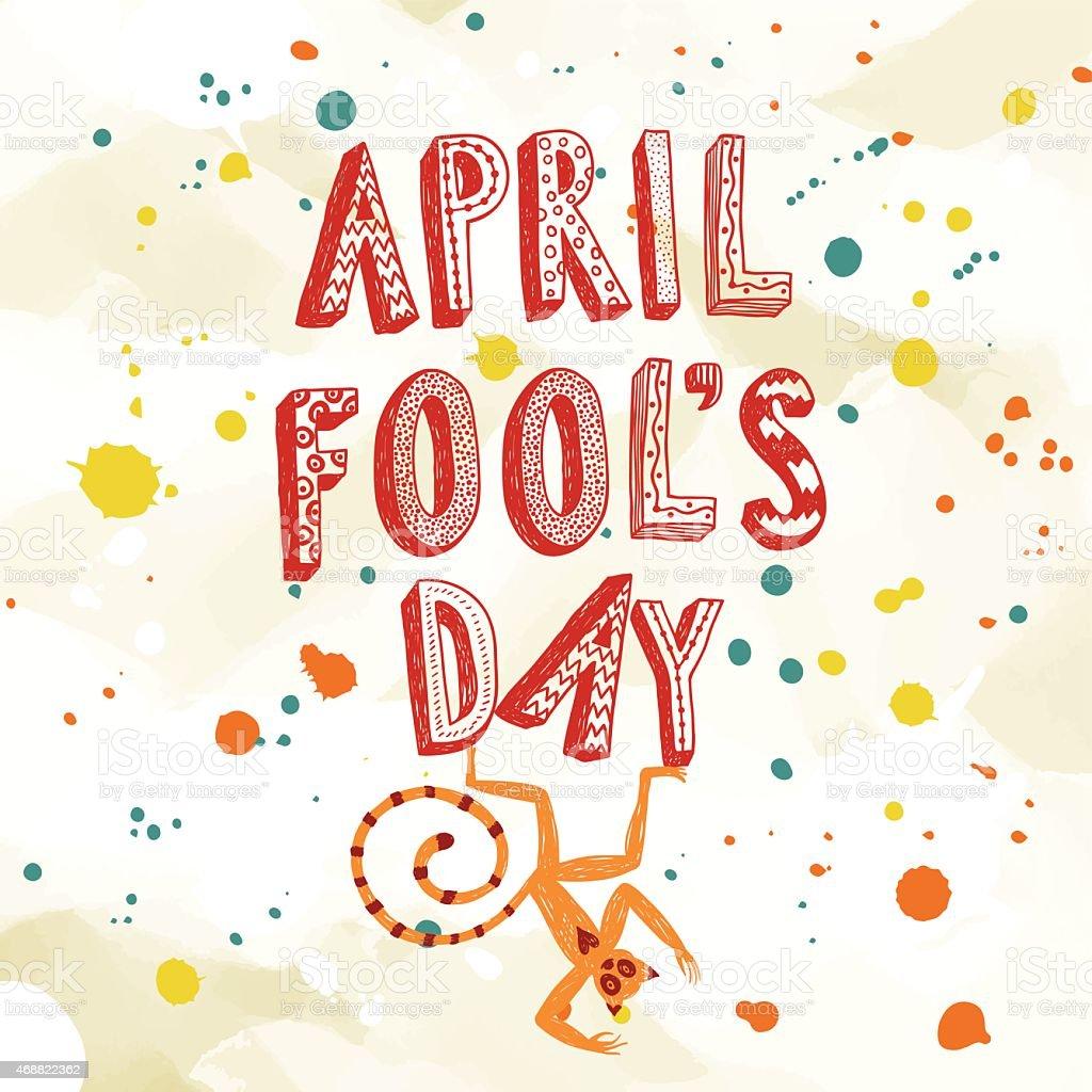 April Fools Day illustration vector art illustration
