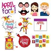 A vector illustration of April Fools Day