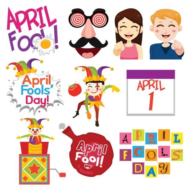 April Fools Day Illustrations vector art illustration