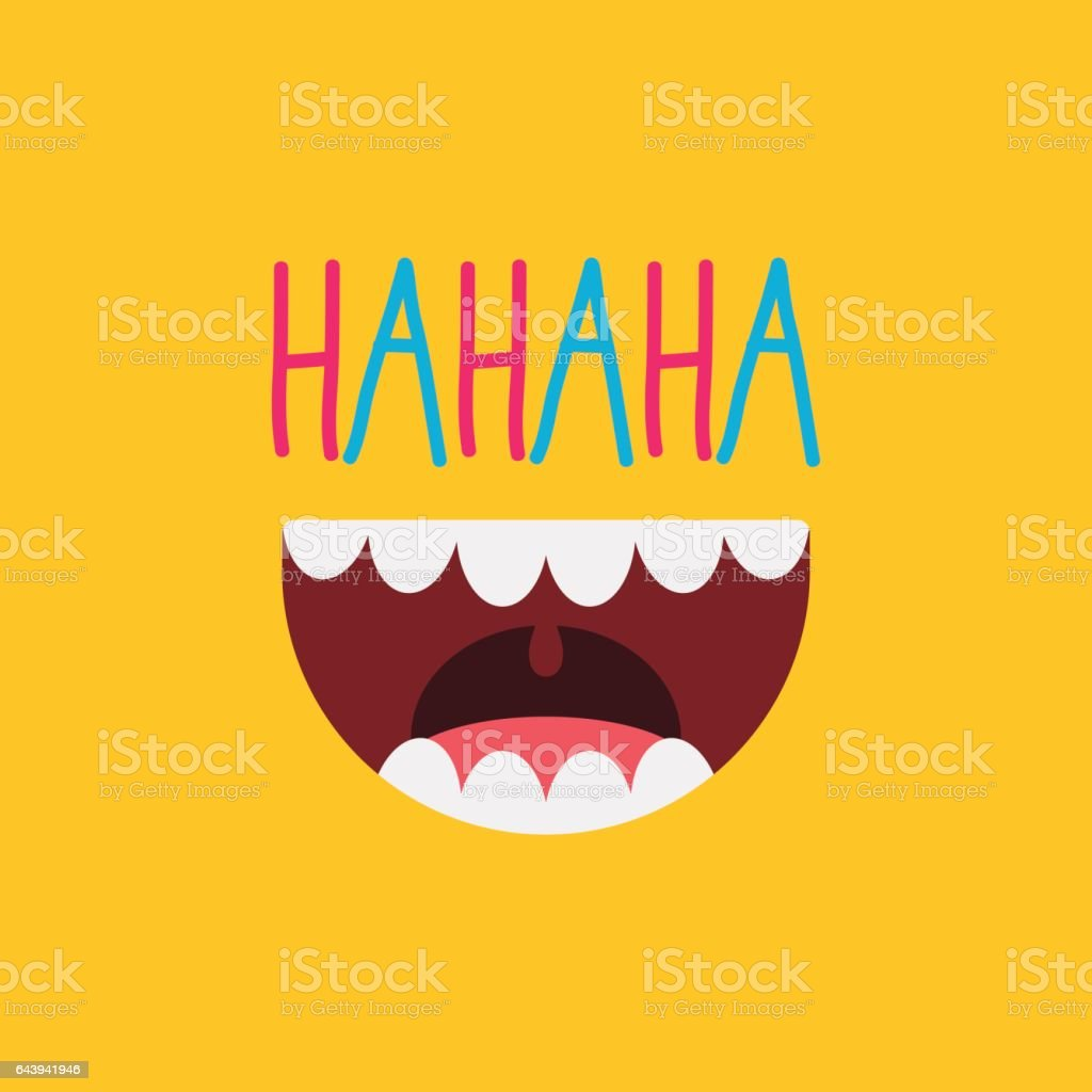 April Fool's Day / Laughing Out Loud Mouth vector art illustration