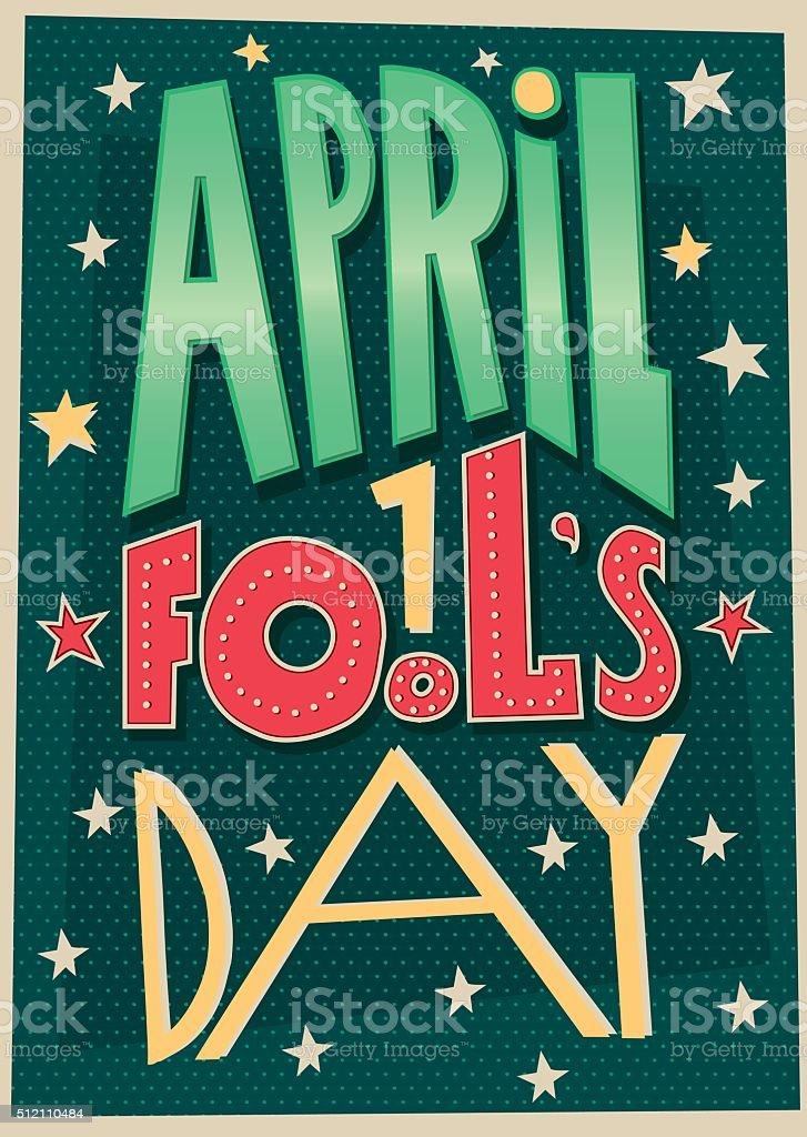 1 April Fools Day poster vector art illustration