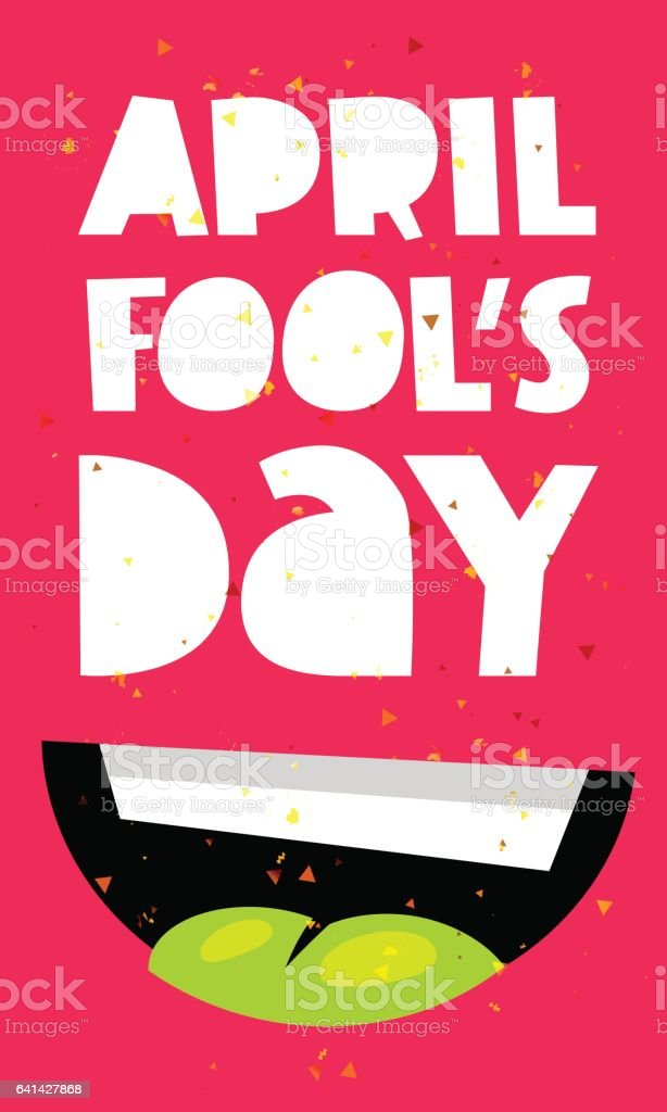 April Fool's Day. Smile vector art illustration