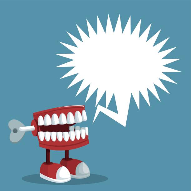 april fools day teeth prank bubble speech april fools day teeth prank bubble speech vector illustration eps 10 april fools day stock illustrations