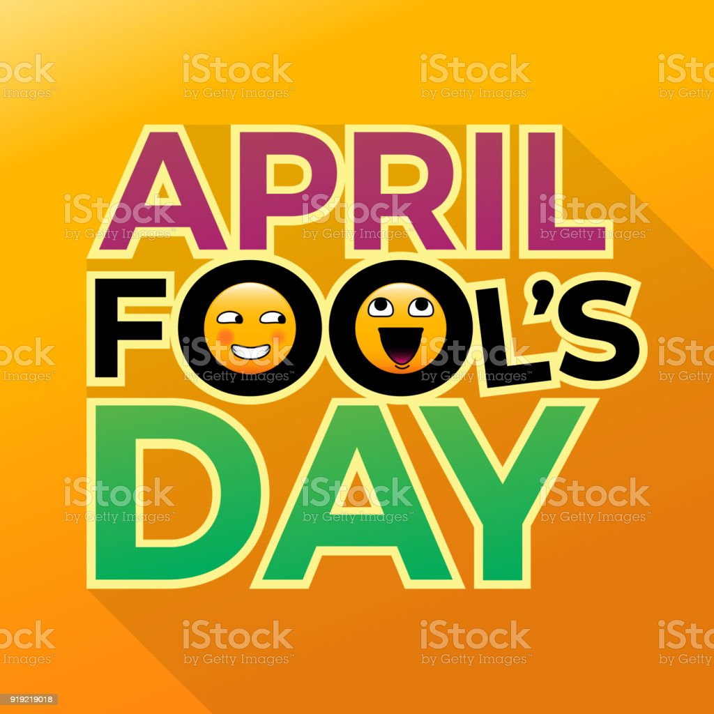 April fools day text with funny emoticons eps 10 vector illustration april fools day text with funny emoticons eps 10 vector illustration for wallpaper background m4hsunfo